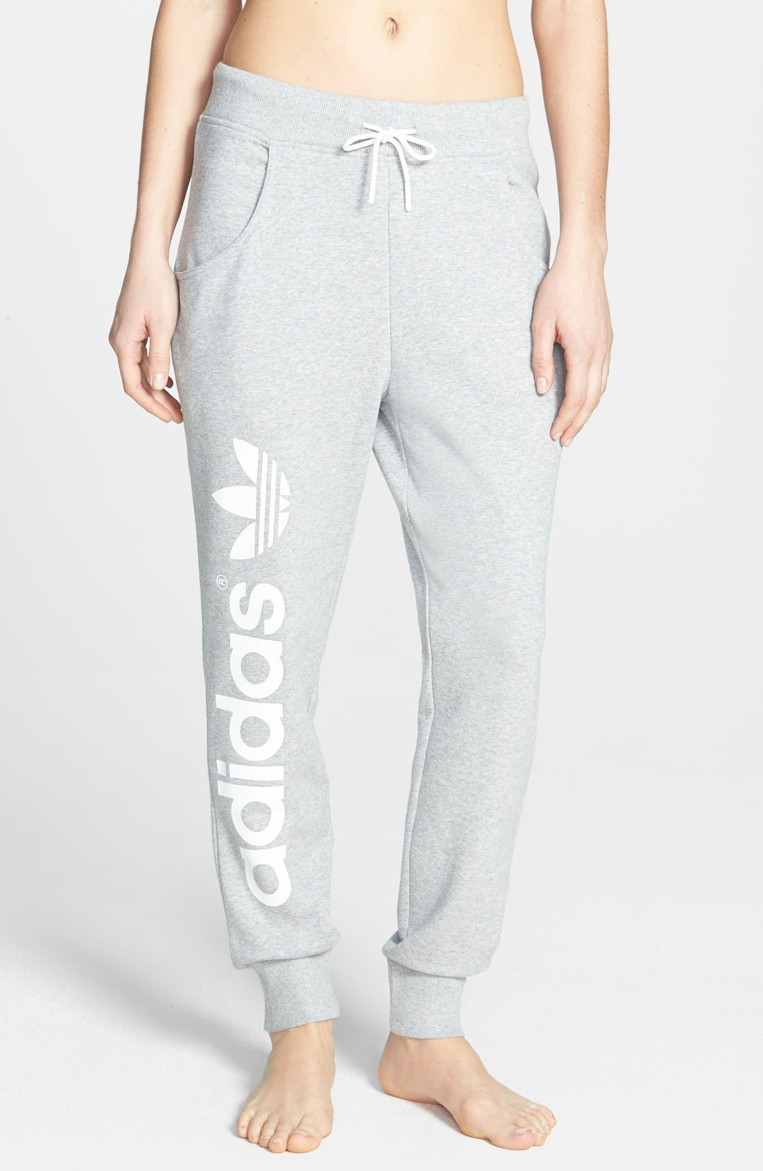 Alternate Image 1 Selected - adidas Originals Baggy French Terry Track Pants