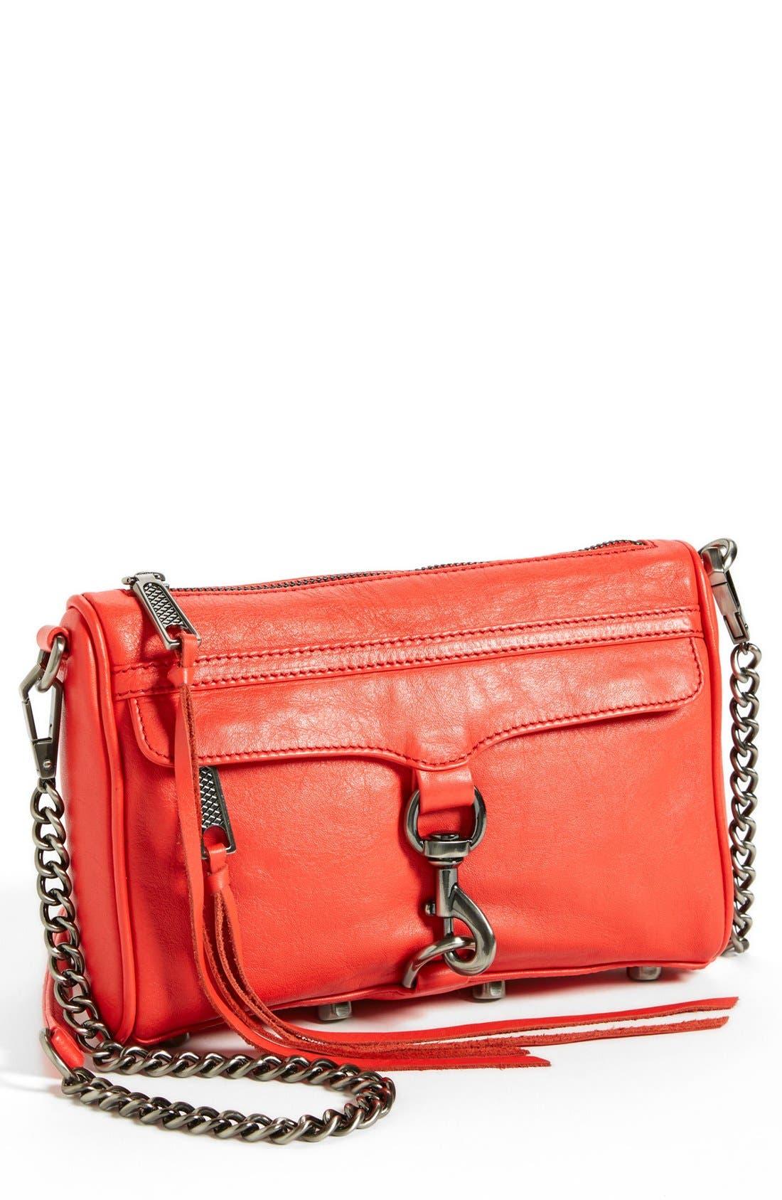 Alternate Image 1 Selected - Rebecca Minkoff 'Mini MAC' Leather Crossbody Clutch