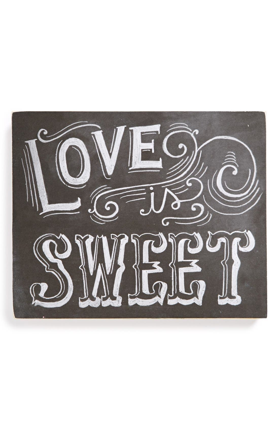 Main Image - Primitives by Kathy 'Love Is Sweet' Chalk Sign
