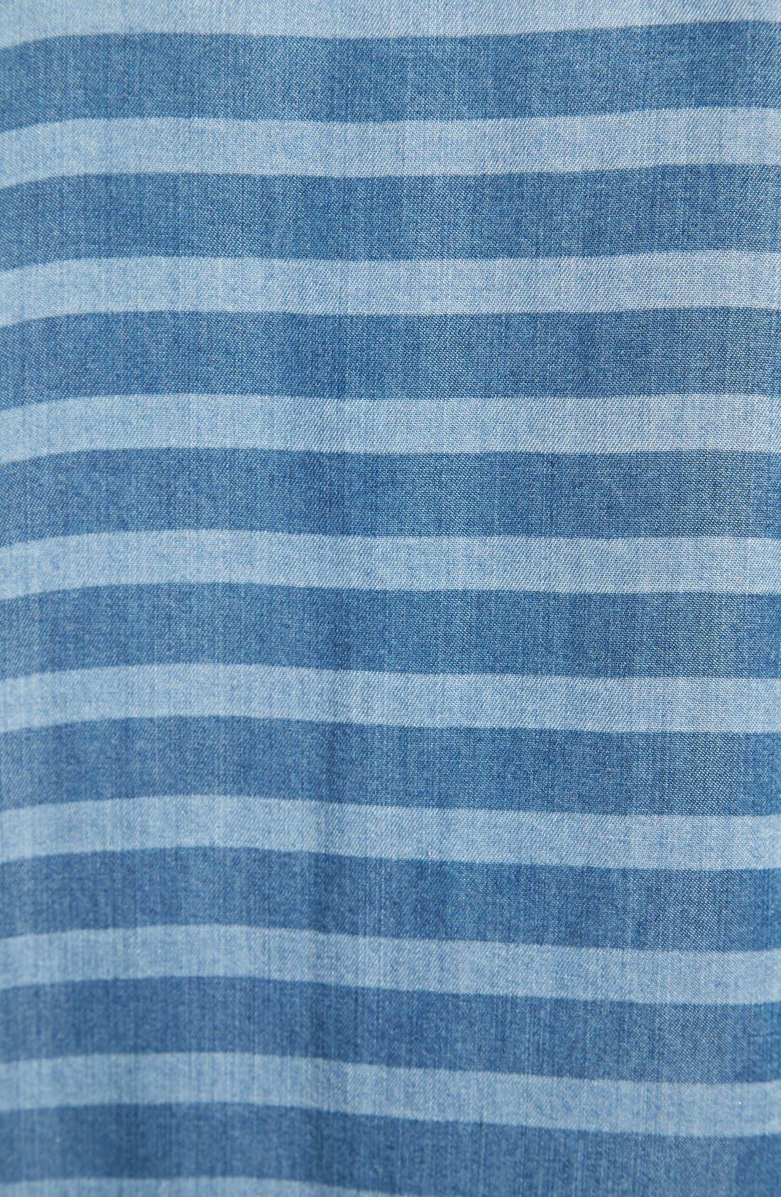 Alternate Image 3  - Halogen® Stripe Chambray Shirt