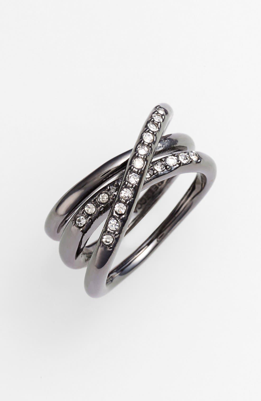 Main Image - Rebecca Minkoff 'Jewel Box' Pavé Coil Ring