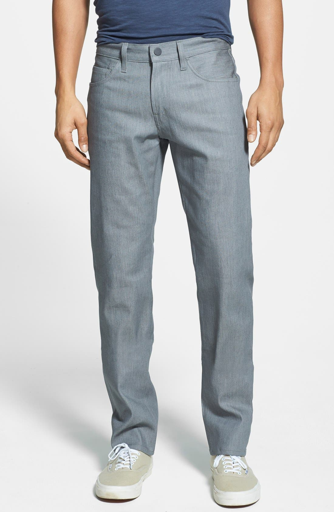 Alternate Image 1 Selected - J Brand 'Kane' Slim Fit Jeans (Stretch Raw Silver)