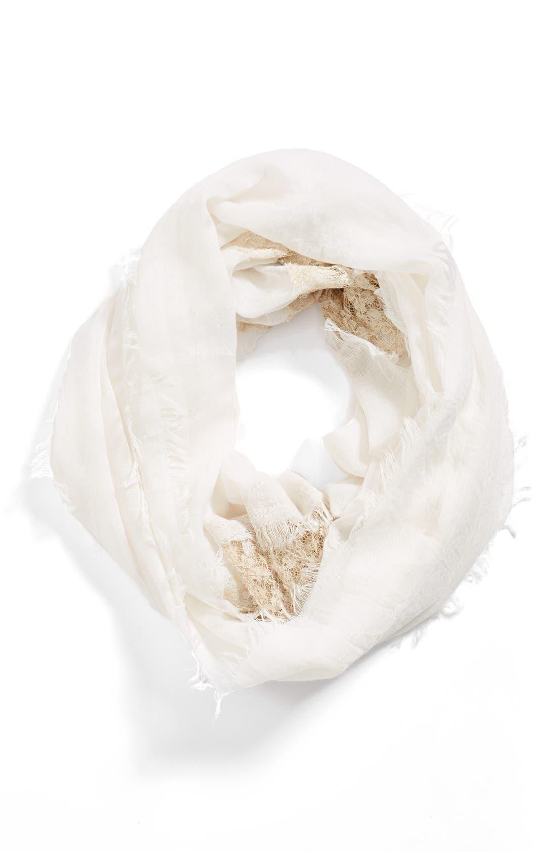 Main Image - Hinge® Crochet Insert Infinity Scarf