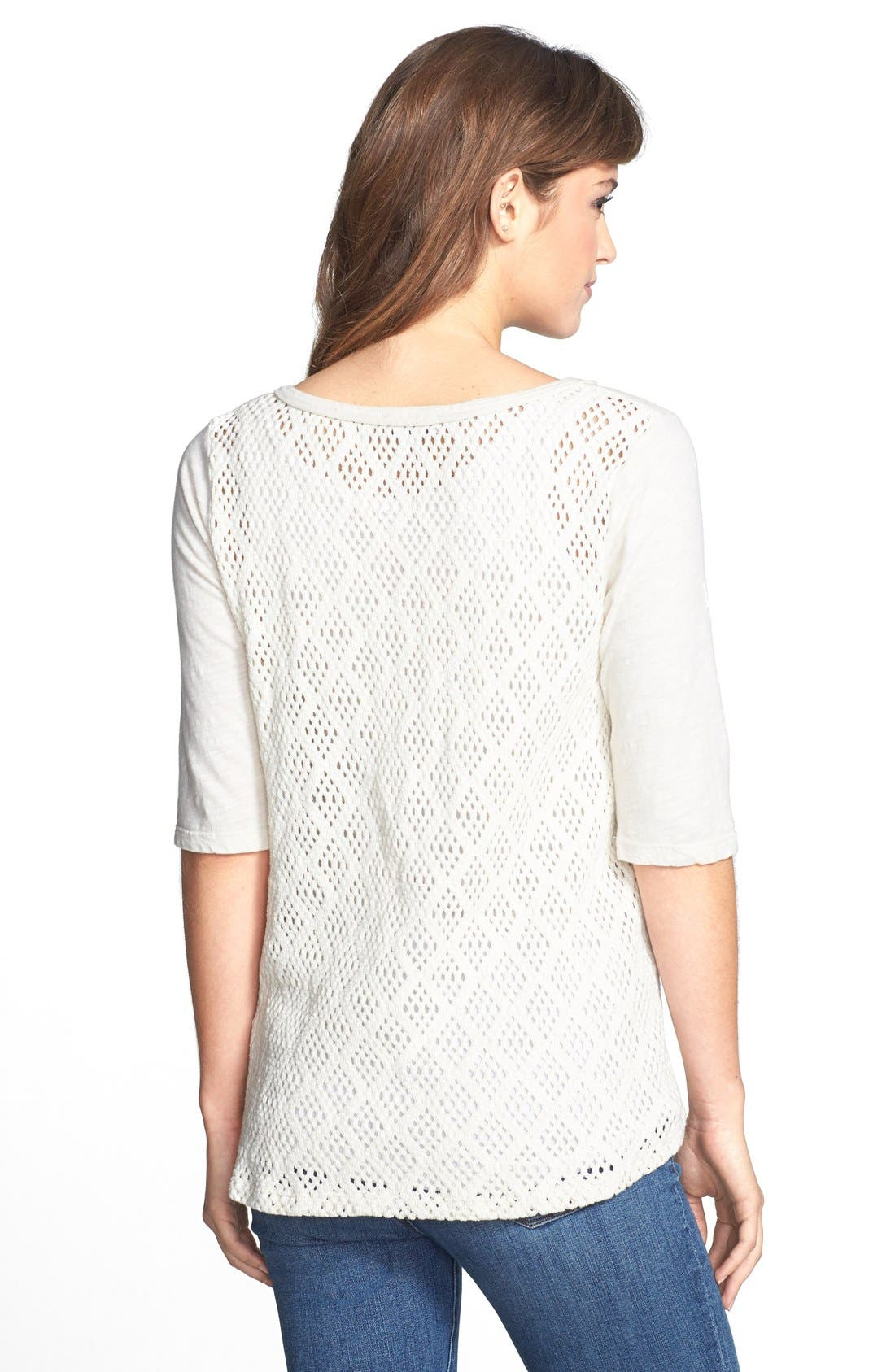 Alternate Image 2  - Lucky Brand 'Calistoga' Crochet Back Top