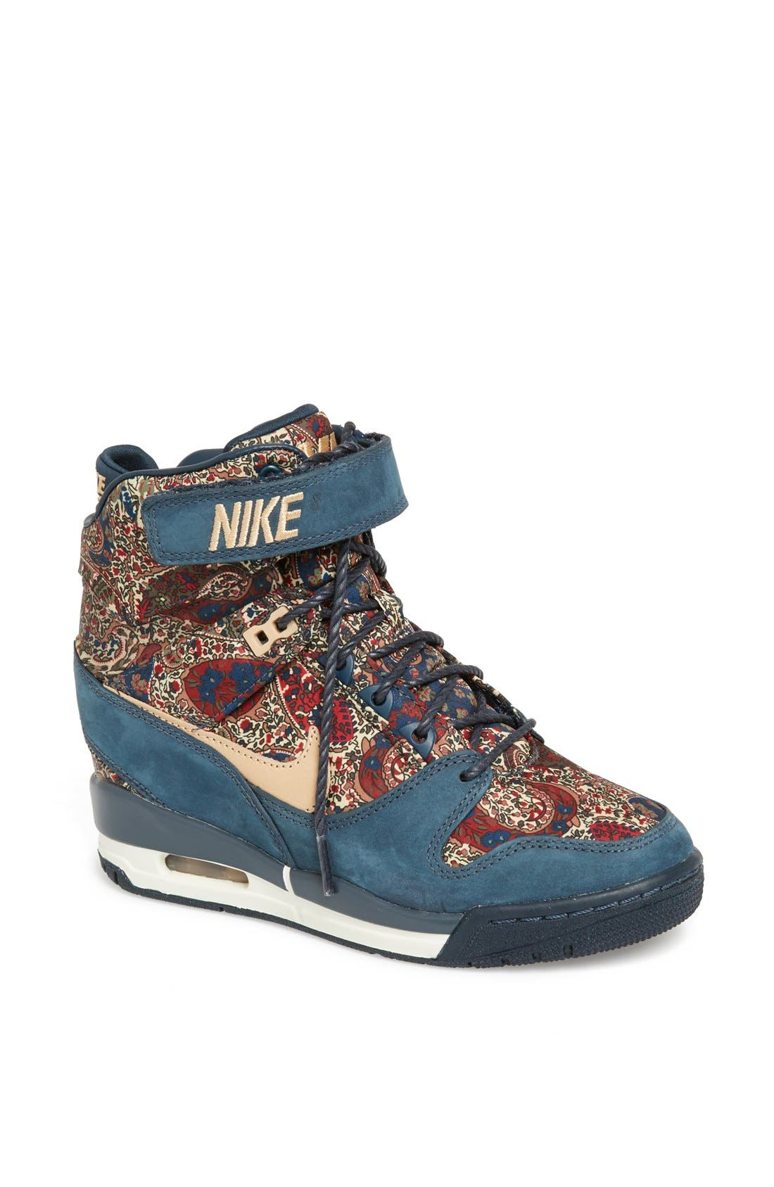 Alternate Image 1 Selected - Nike 'Air Revolution Sky Hi Liberty' Wedge Sneaker (Women)