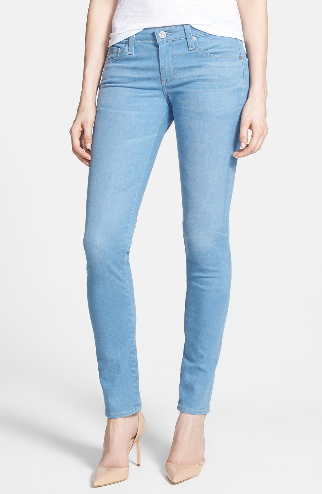 Main Image - AG 'Aubrey' Slim Straight Leg Jeans (2 Year Expedition)