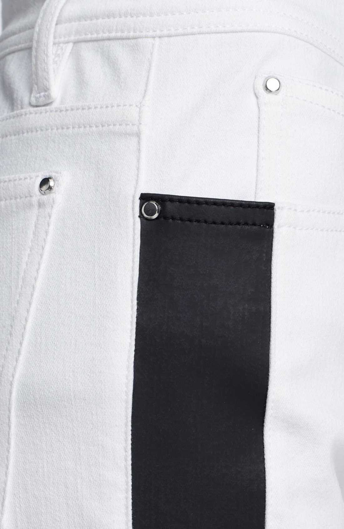 Alternate Image 4  - Faith Connexion Tuxedo Stripe Ankle Jeans