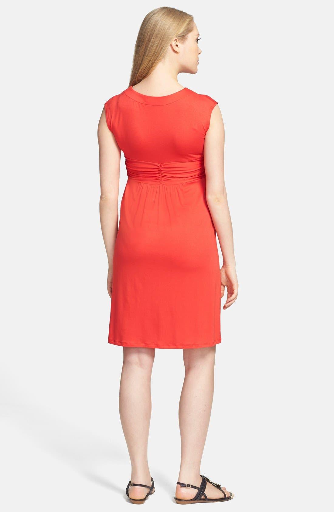 Alternate Image 2  - Maternal America 'Empire Cascade' Maternity Dress