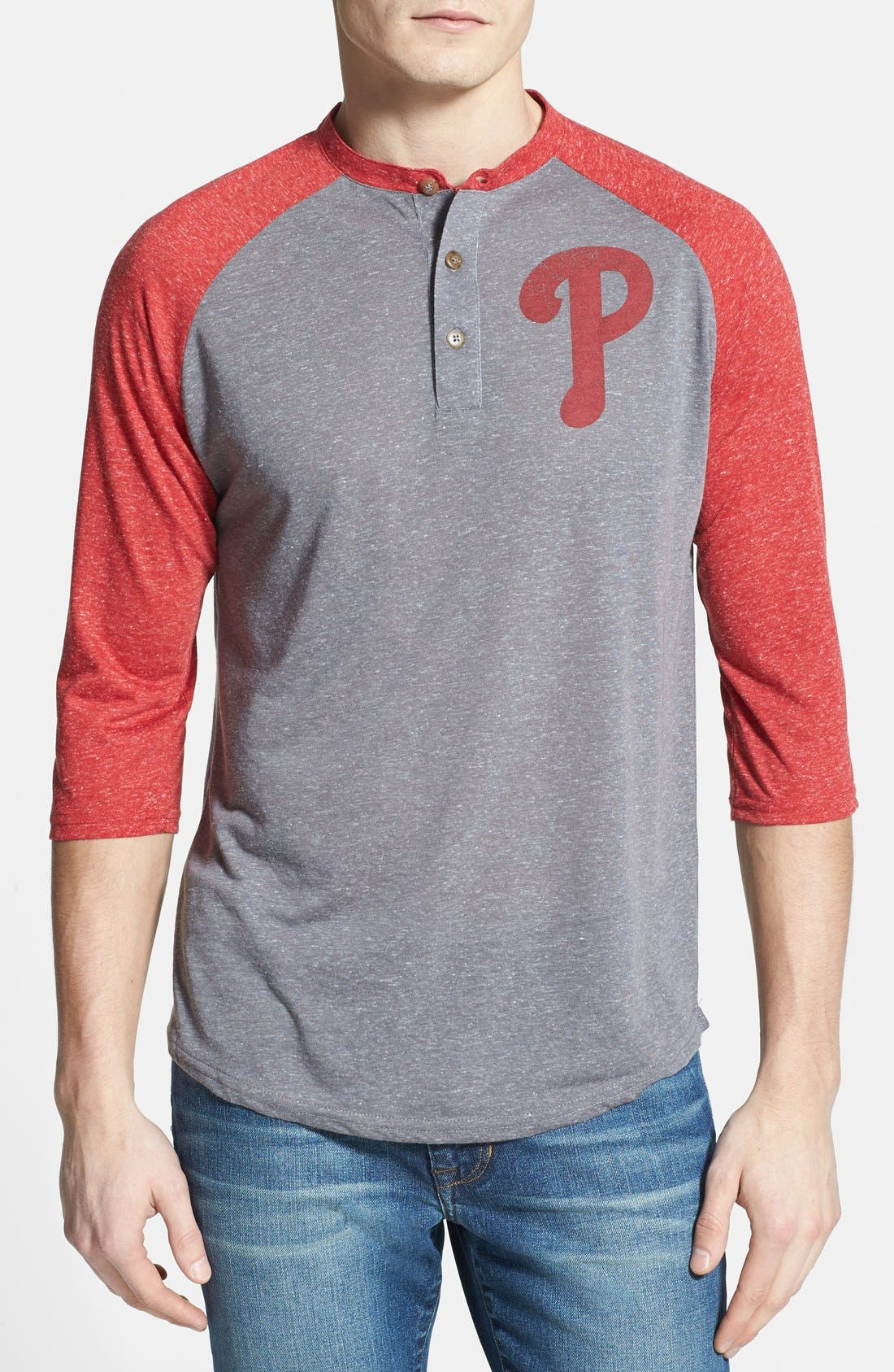 Main Image - Red Jacket 'Philadelphia Phillies - Uncle Charlie' Henley
