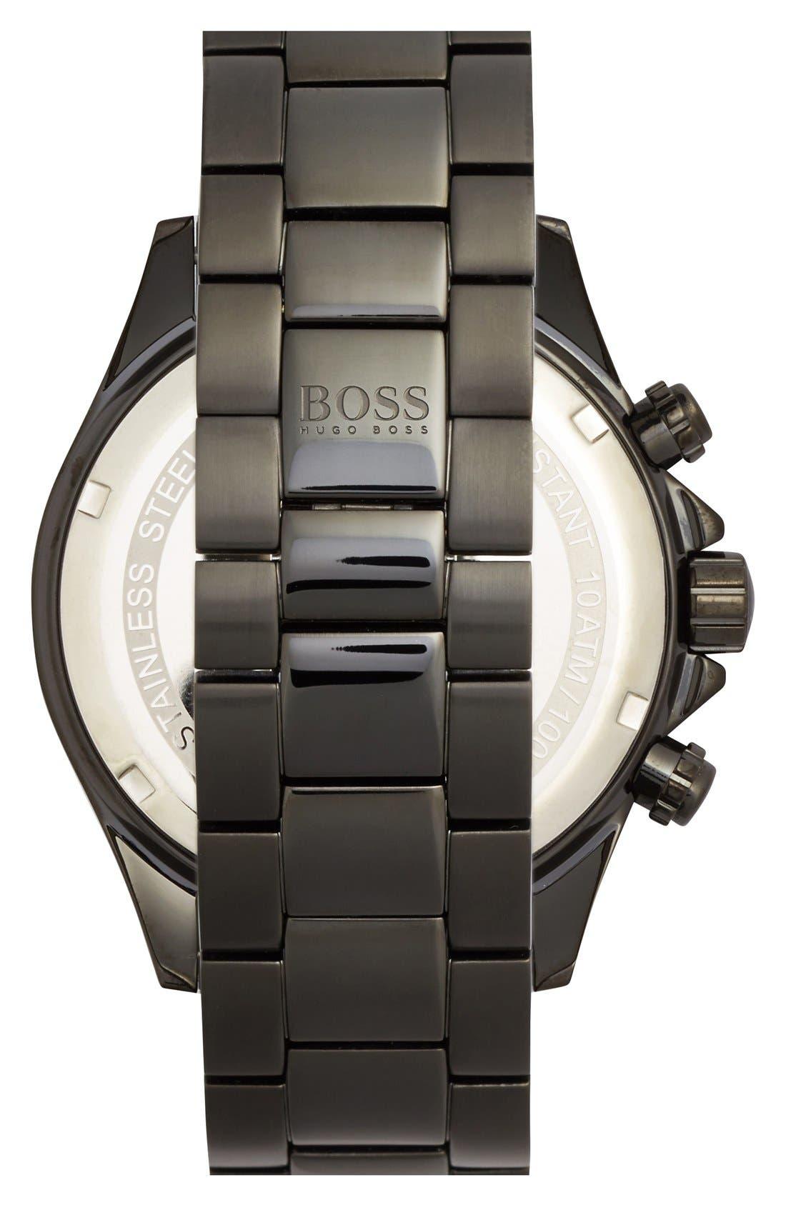 Alternate Image 3  - BOSS Round Chronograph Bracelet Watch, 44mm