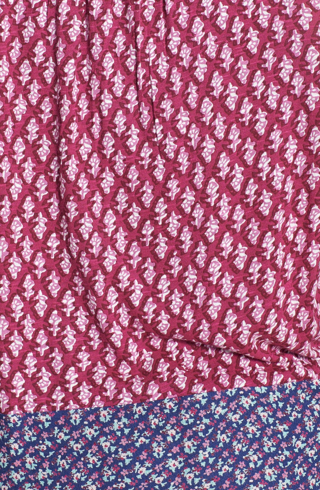Alternate Image 3  - Lucky Brand 'Corte Madera' Tie Front Top (Plus Size)