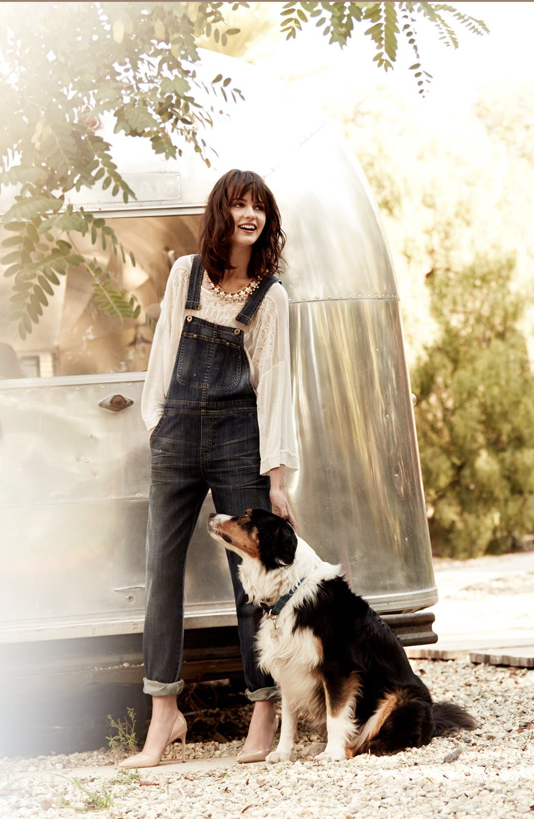 Alternate Image 1 Selected - Free People Top & Citizens of Humanity Overalls