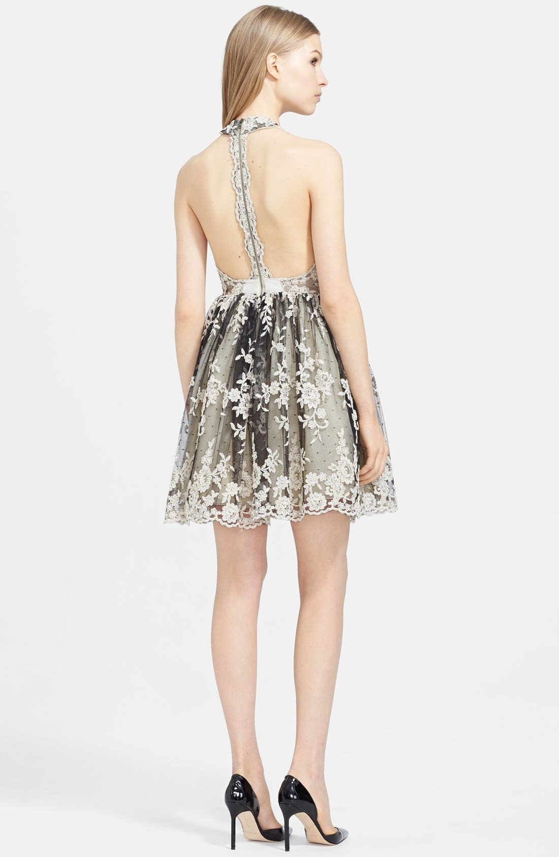 Alternate Image 2  - Alice + Olivia 'Betrice' T-back Lace Fit & Flare Dress