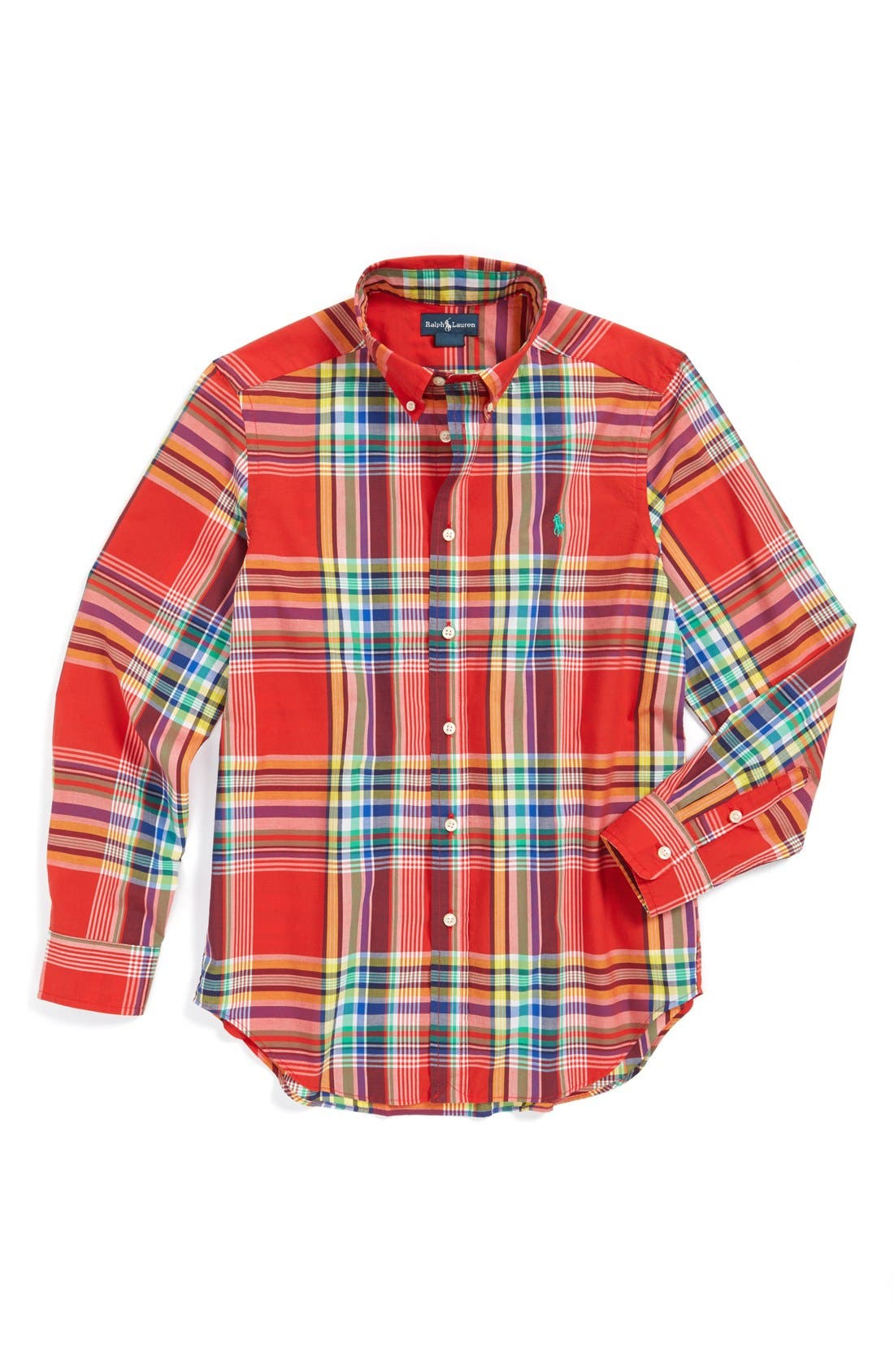 Main Image - Ralph Lauren Plaid Shirt (Little Boys)