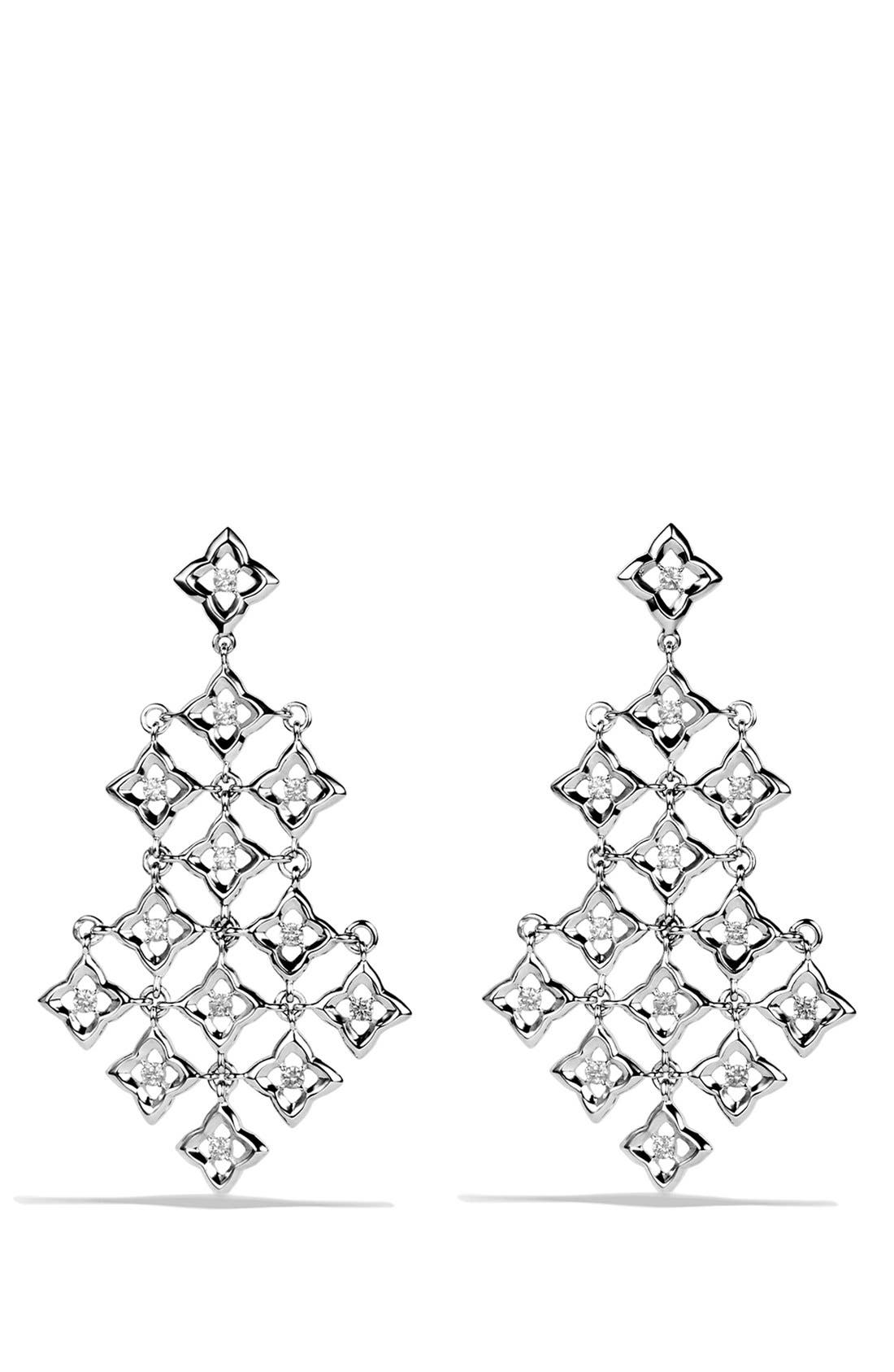Alternate Image 1 Selected - David Yurman 'Quatrefoil' Chandelier Earrings with Diamonds