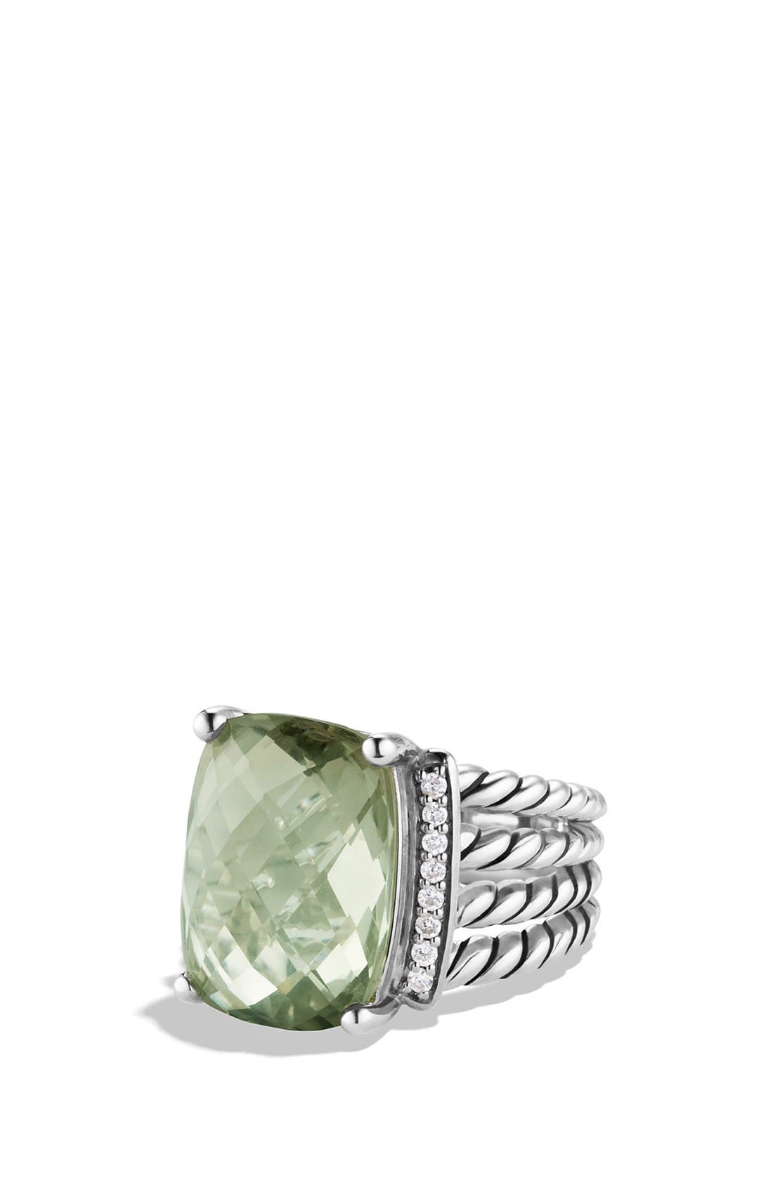 David Yurman 'Wheaton' Ring with Semiprecious Stone & Diamonds