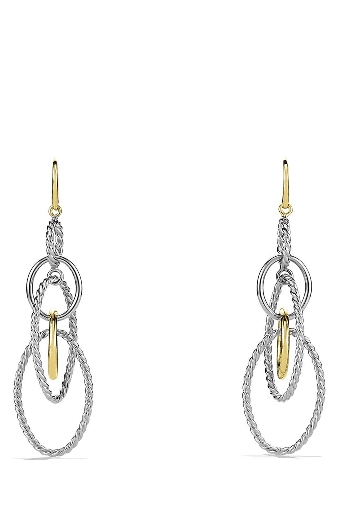 David Yurman 'Mobile' Large Link Earrings with Gold