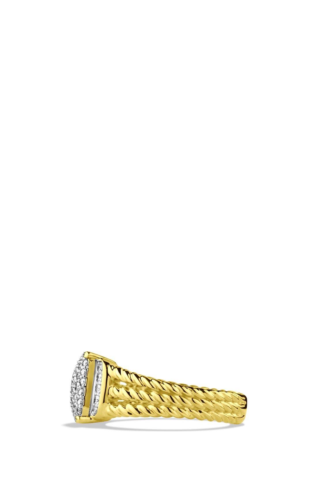 Alternate Image 2  - David Yurman 'Wheaton' Petite Ring with Diamonds in Gold