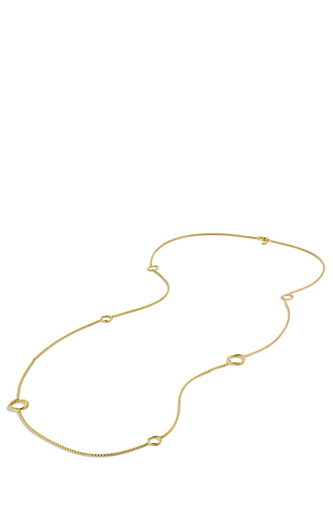 Alternate Image 2  - David Yurman 'Infinity' Station Necklace in Gold