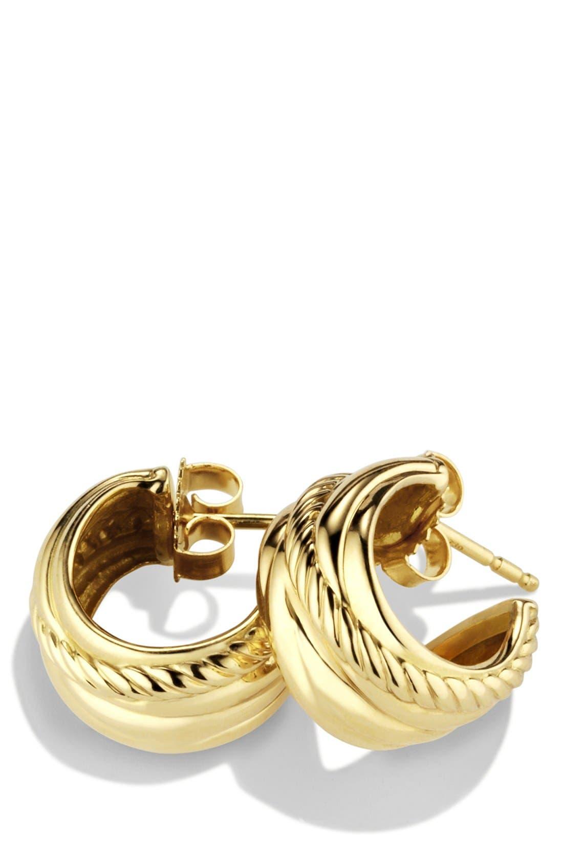 Alternate Image 2  - David Yurman 'Crossover' Earrings in Gold