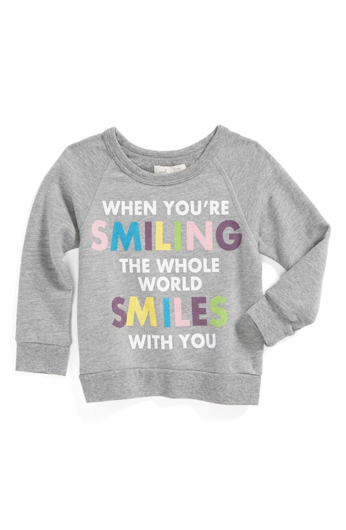 Alternate Image 1 Selected - Peek 'When You're Smiling' Sweatshirt (Baby Girls)