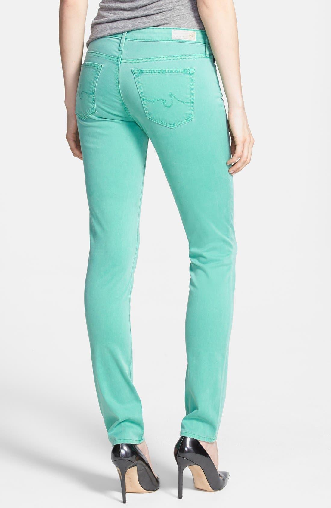 Alternate Image 2  - AG 'Stilt' Skinny Ankle Jeans (Pigment Putt Putt Green)