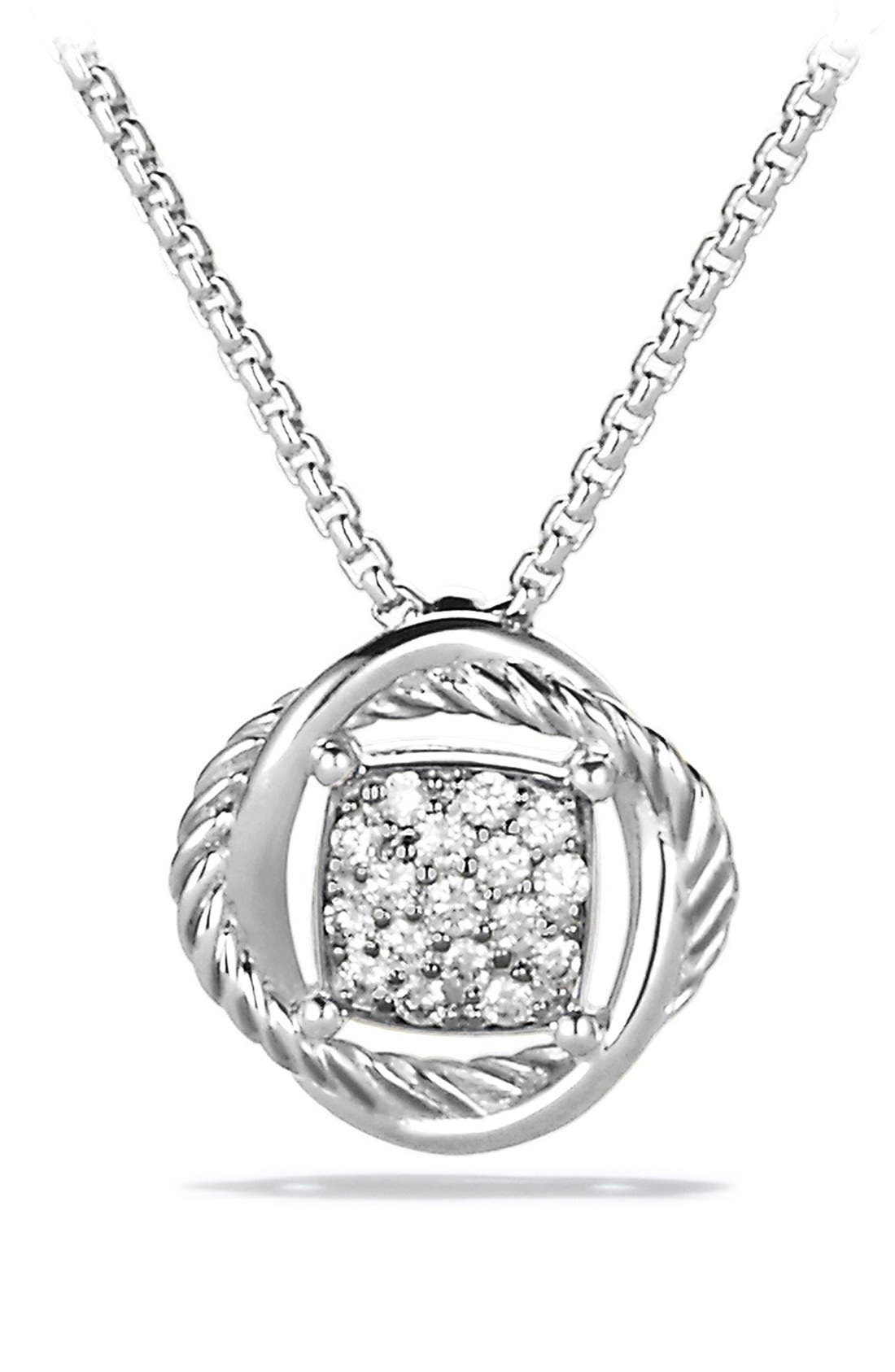 David Yurman 'Infinity' Pendant with Diamonds on Chain