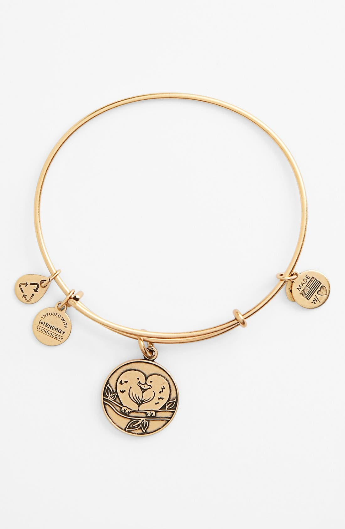 Main Image - Alex and Ani 'Love Birds' Expandable Wire Bangle