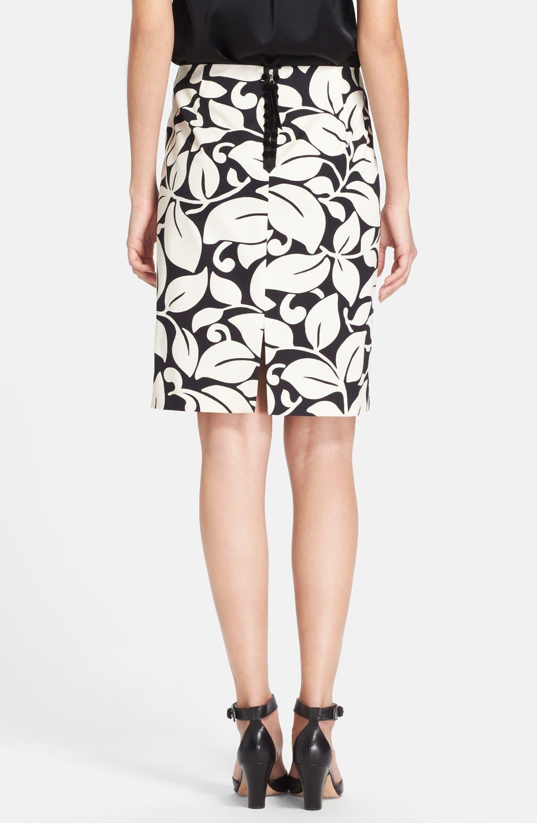 Alternate Image 2  - MARC JACOBS Print Cotton Pencil Skirt