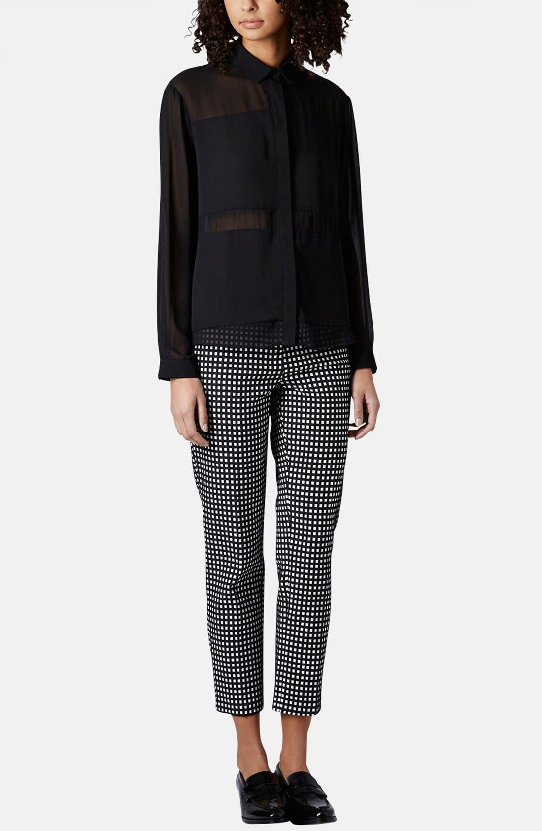 Alternate Image 5  - Topshop Gingham Print Cigarette Pants