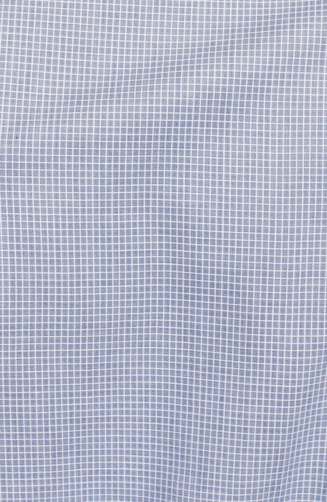Alternate Image 3  - Armani Collezioni Slim Fit Check Grid Dress Shirt
