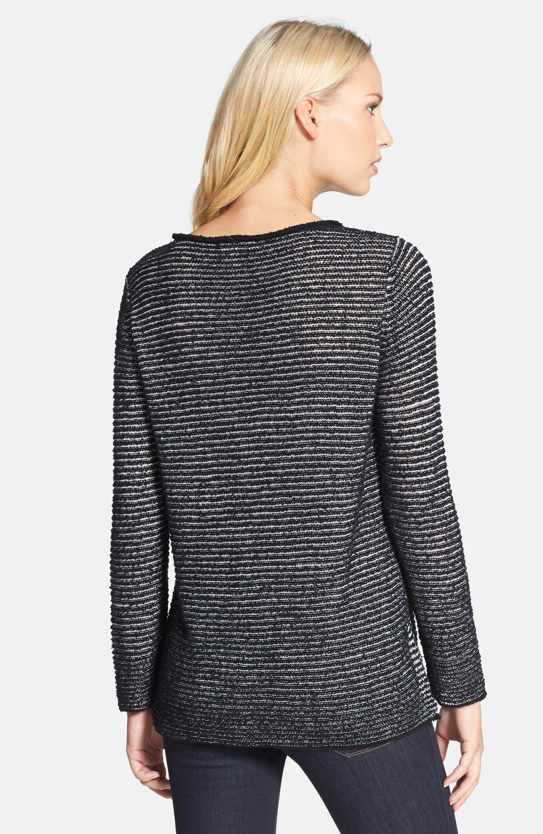 Alternate Image 2  - Eileen Fisher Bateau Neck Organic Cotton Sweater
