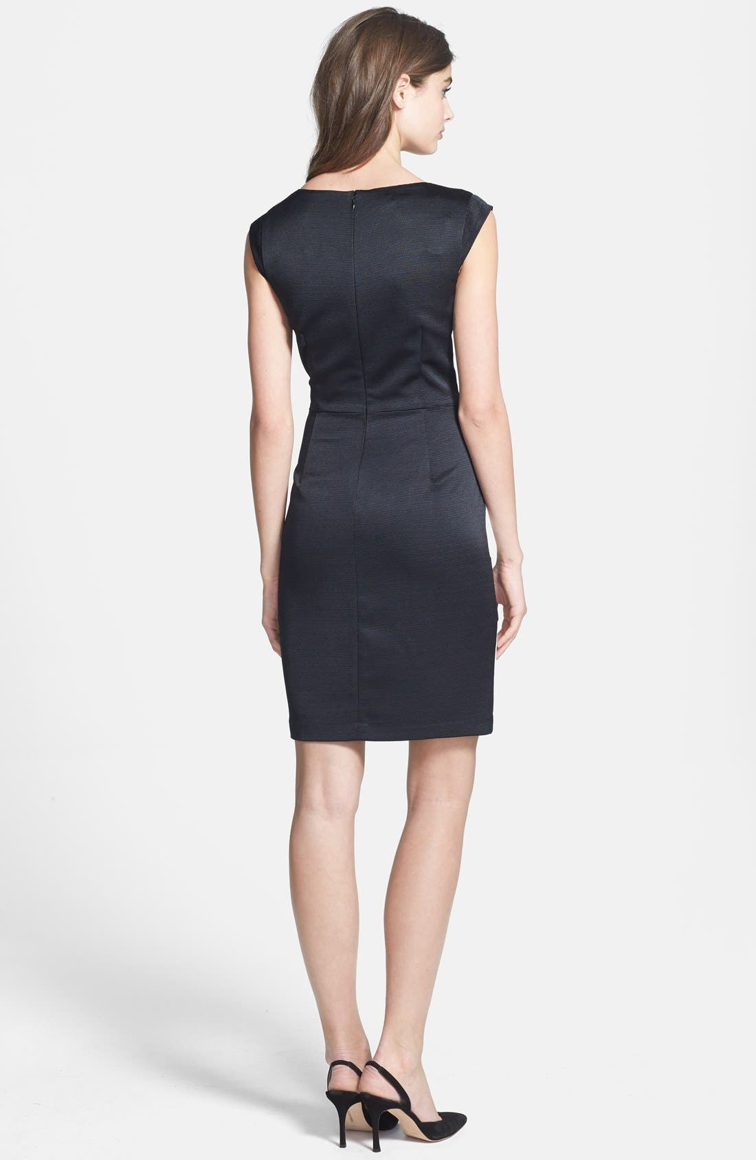 Alternate Image 3  - Ivy & Blu Colorblock Cap Sleeve Sheath Dress
