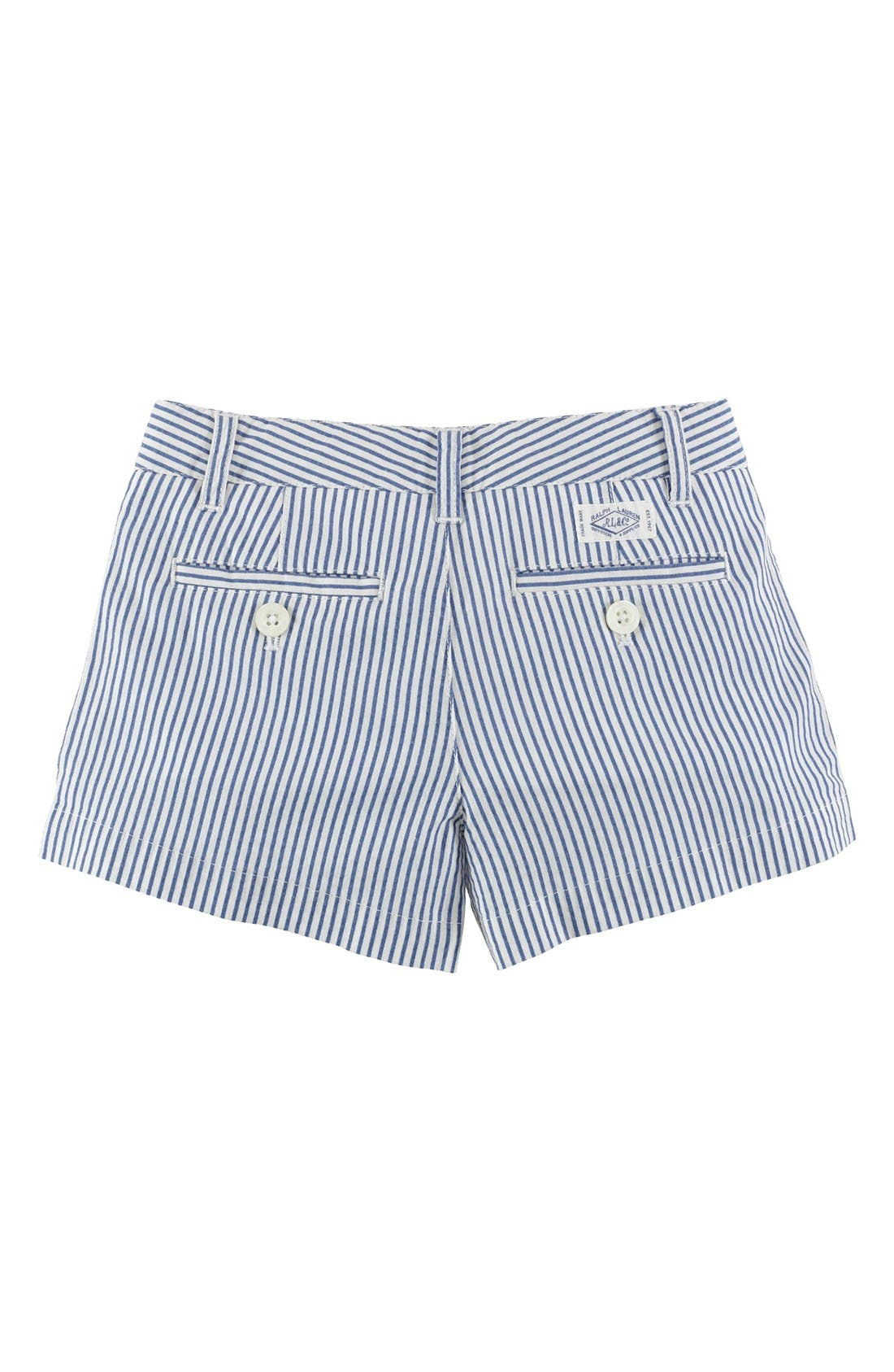 Alternate Image 2  - Ralph Lauren Seersucker Shorts (Toddler Girls)