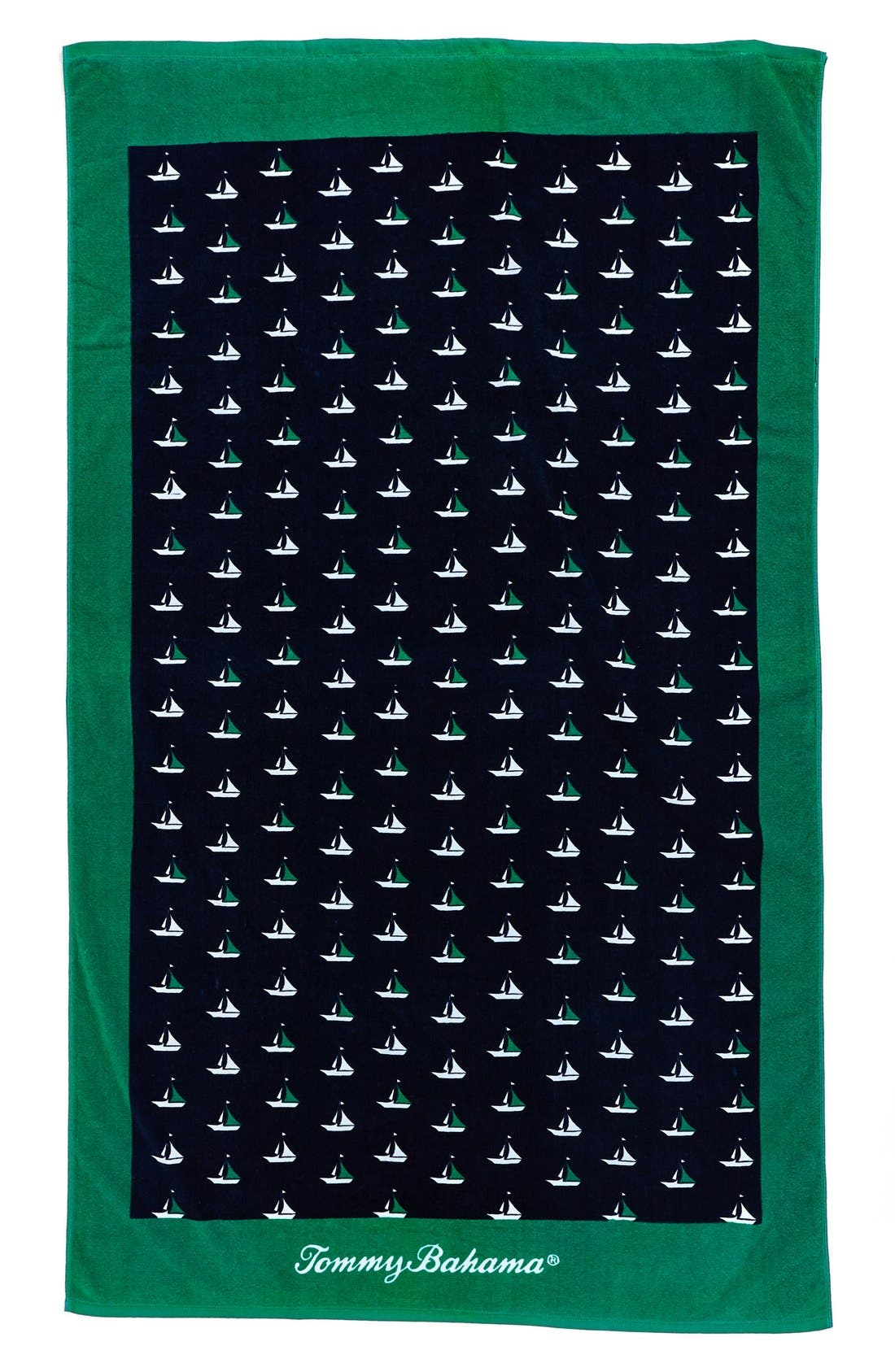 Main Image - Tommy Bahama 'Sailboats' Cotton Terry Beach Towel