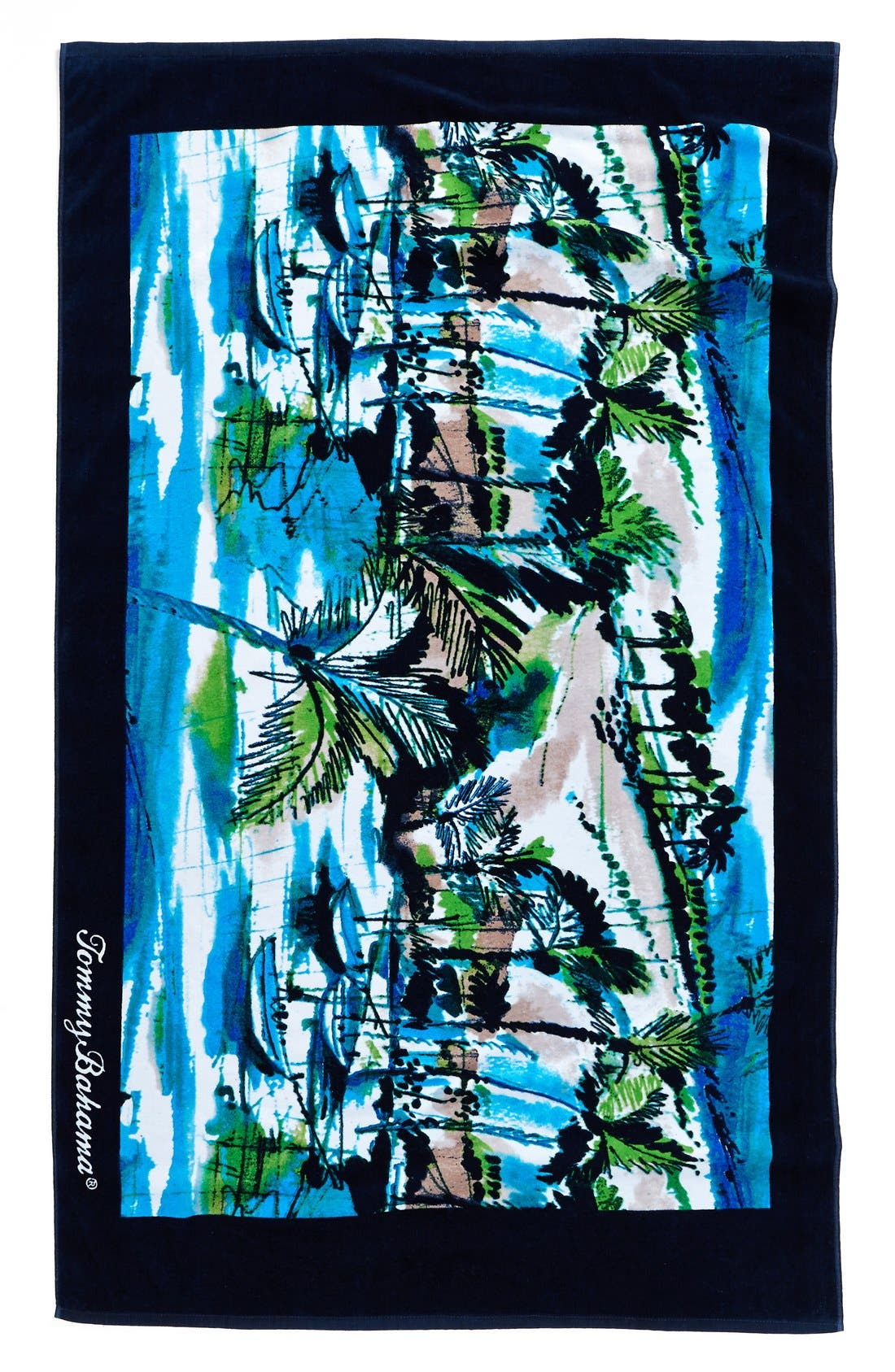 Alternate Image 1 Selected - Tommy Bahama 'Scenic Harbor' Cotton Terry Beach Towel