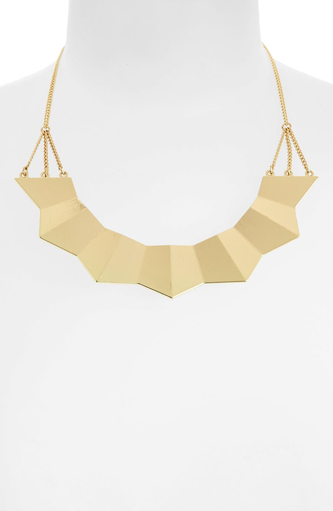 Alternate Image 1 Selected - Topshop Ridged Necklace