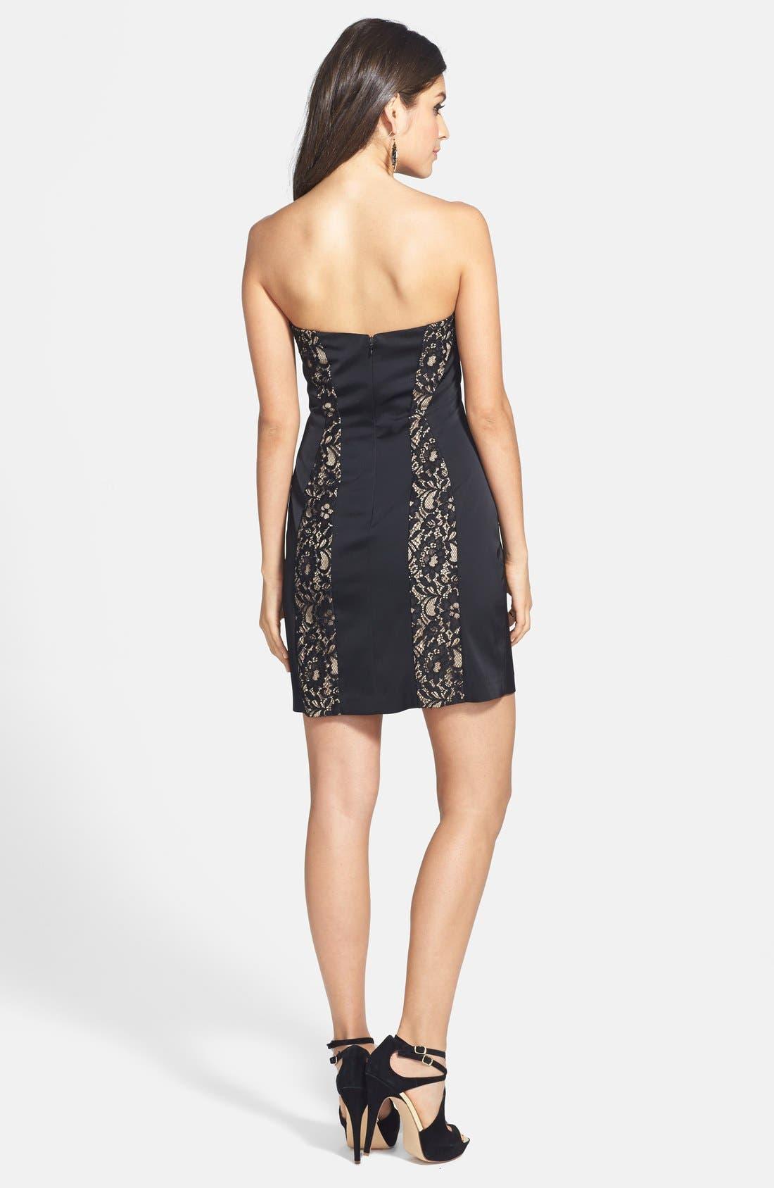 Alternate Image 2  - Aidan Mattox Lace Inset Sheath Dress