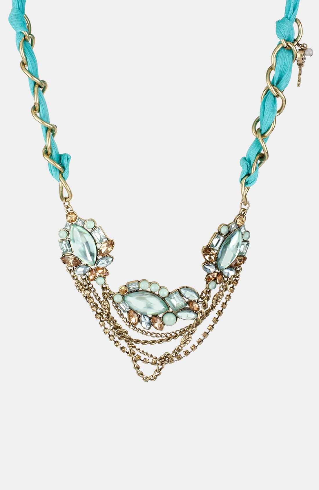 Main Image - Betsey Johnson 'Mint Multi' Frontal Necklace
