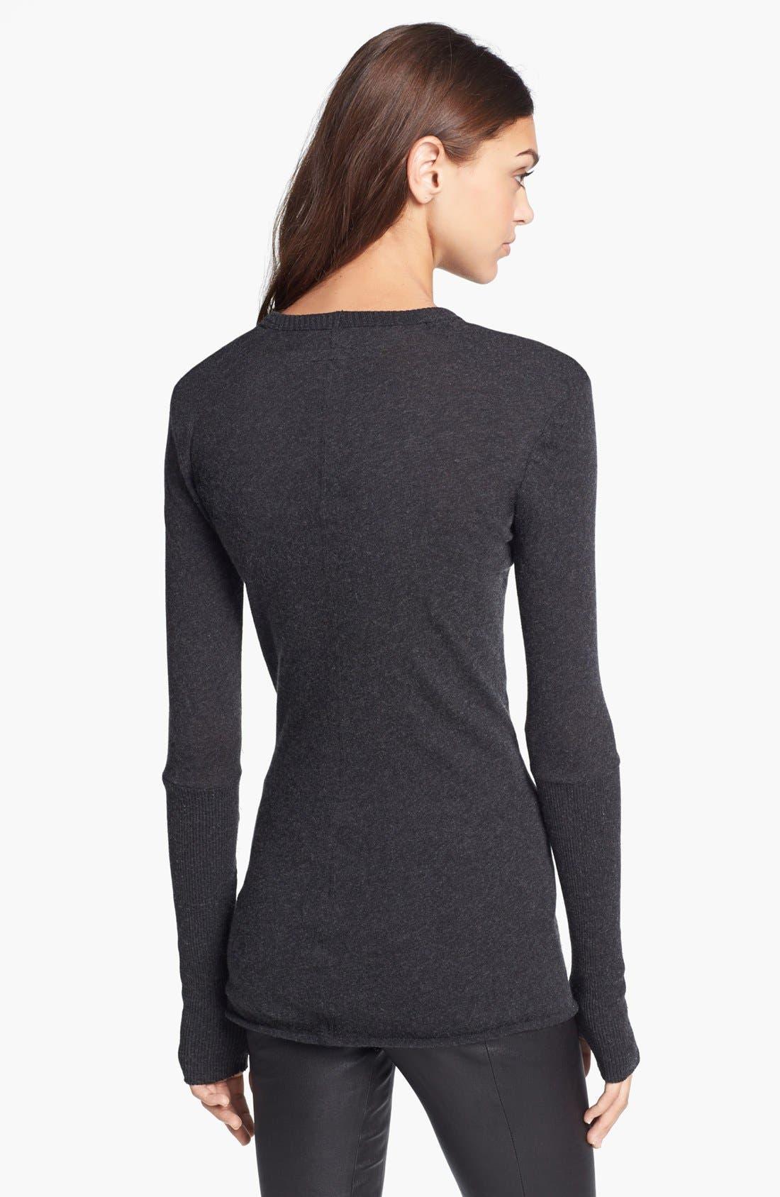 Alternate Image 2  - Enza Costa Cotton & Cashmere Jersey Sweater