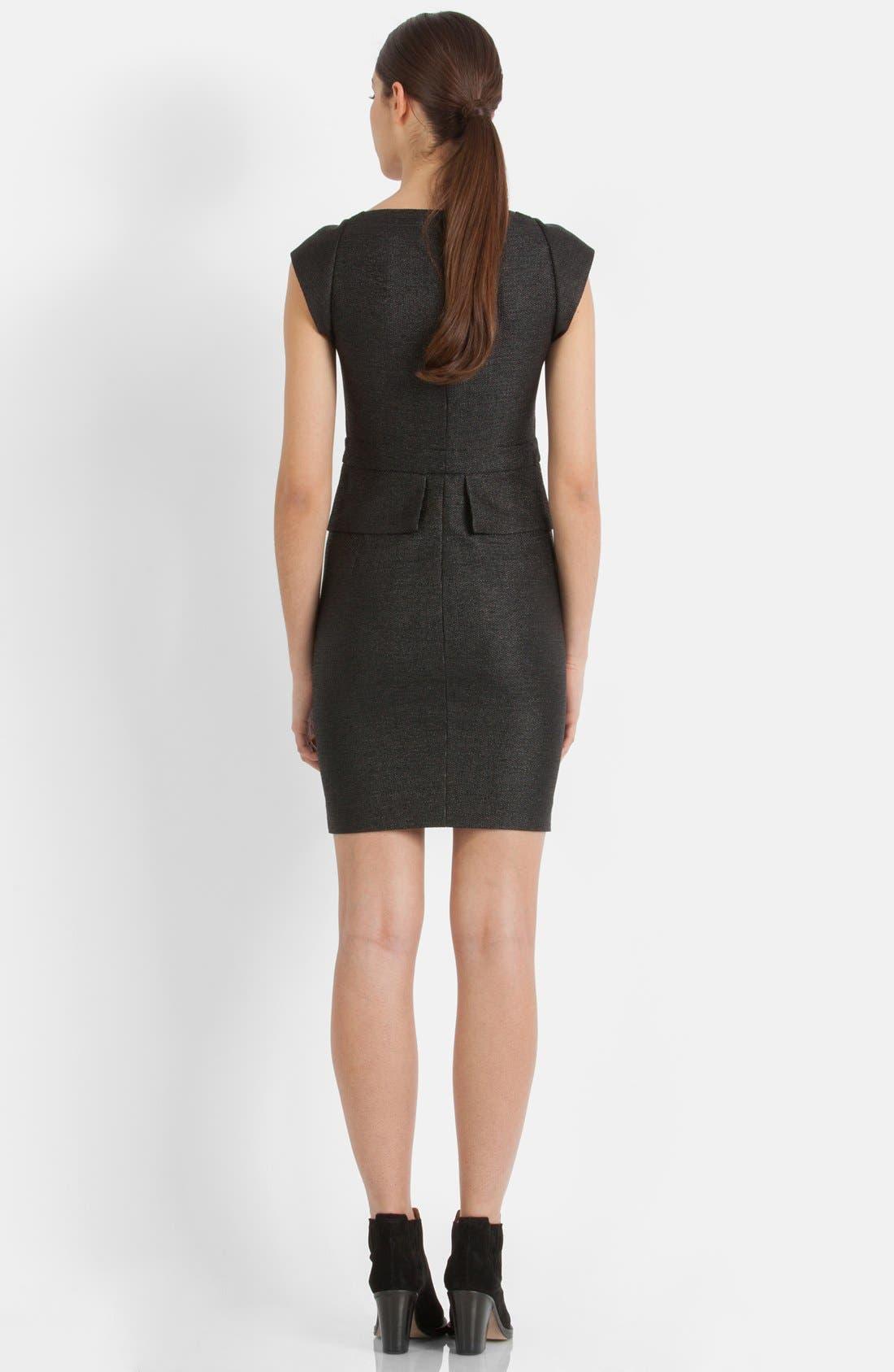 Alternate Image 2  - maje 'Fashionis' Peplum Woven Sheath Dress