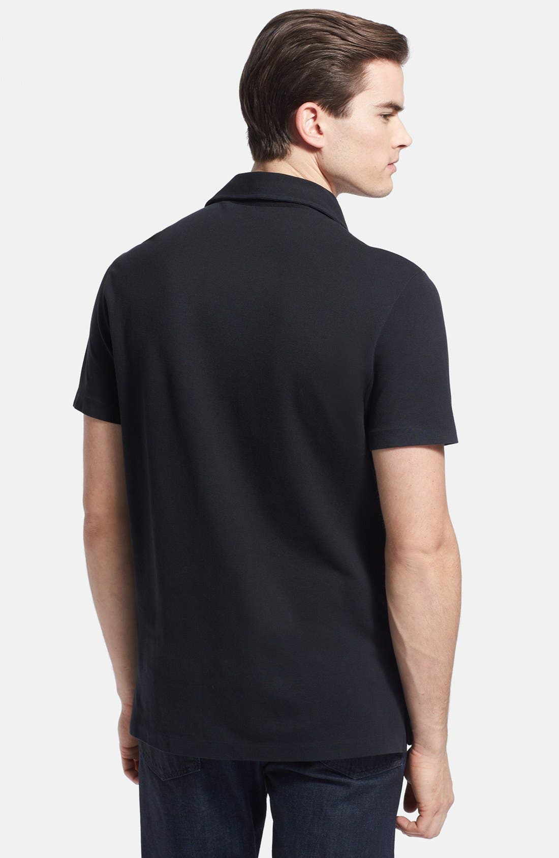 Alternate Image 2  - Ralph Lauren Black Label Stretch Piqué Polo