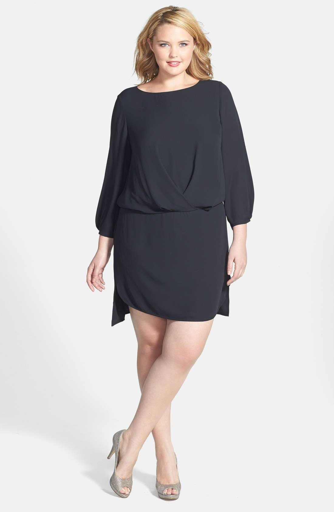 Alternate Image 1 Selected - Vince Camuto 'Center Fold' Dress (Plus Size)