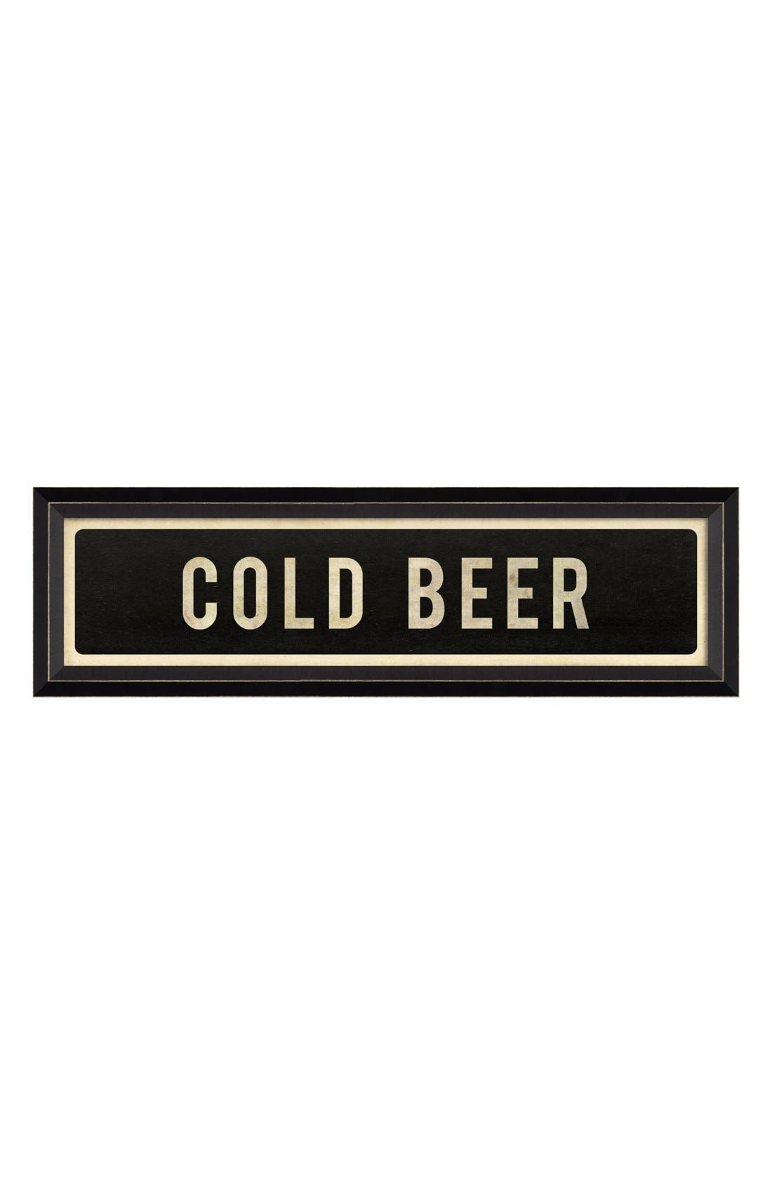 Main Image - Spicher and Company 'Cold Beer' Vintage Look Street Sign Artwork