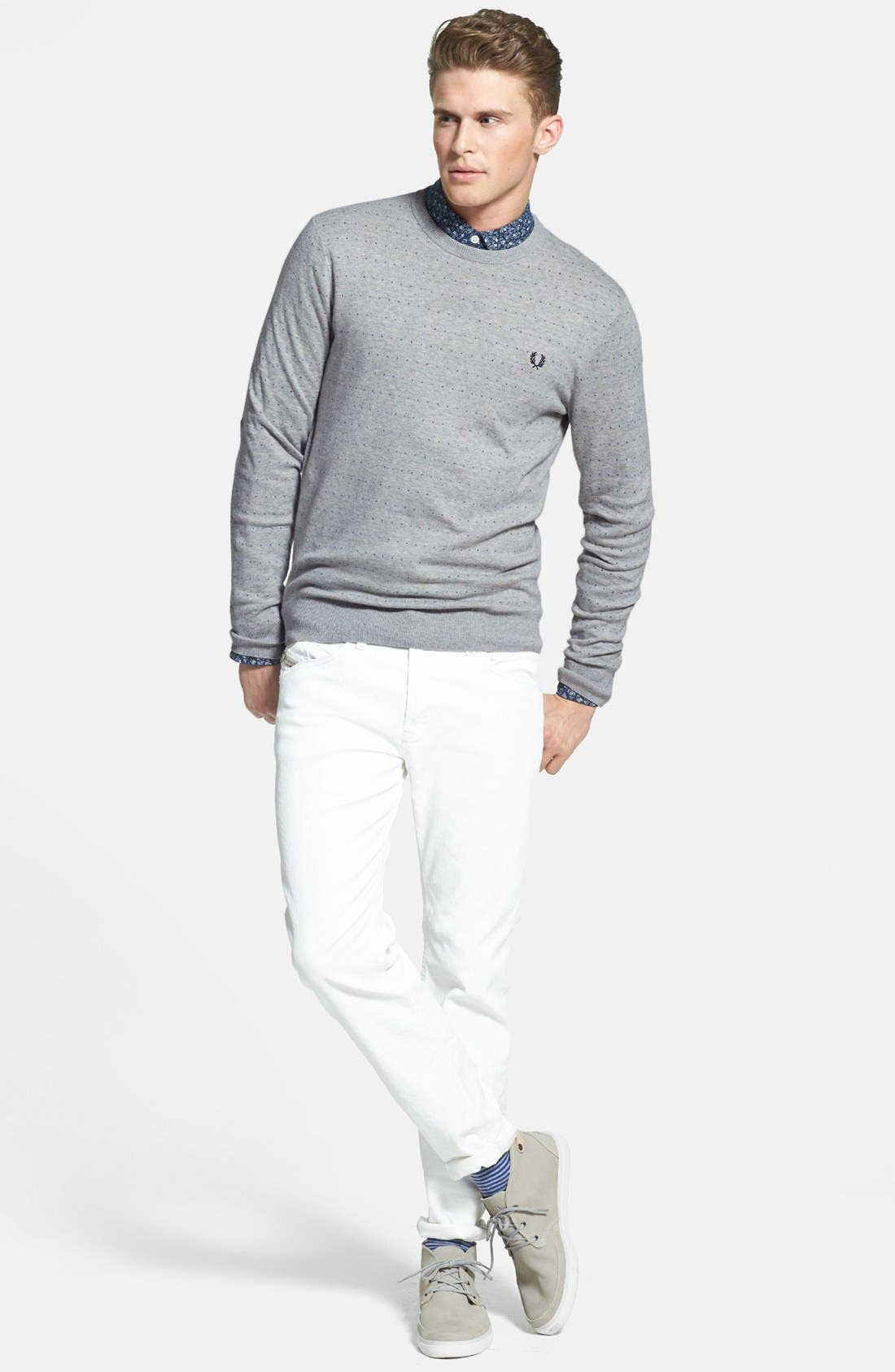 Alternate Image 4  - Fred Perry 'Dot' Crewneck Sweater