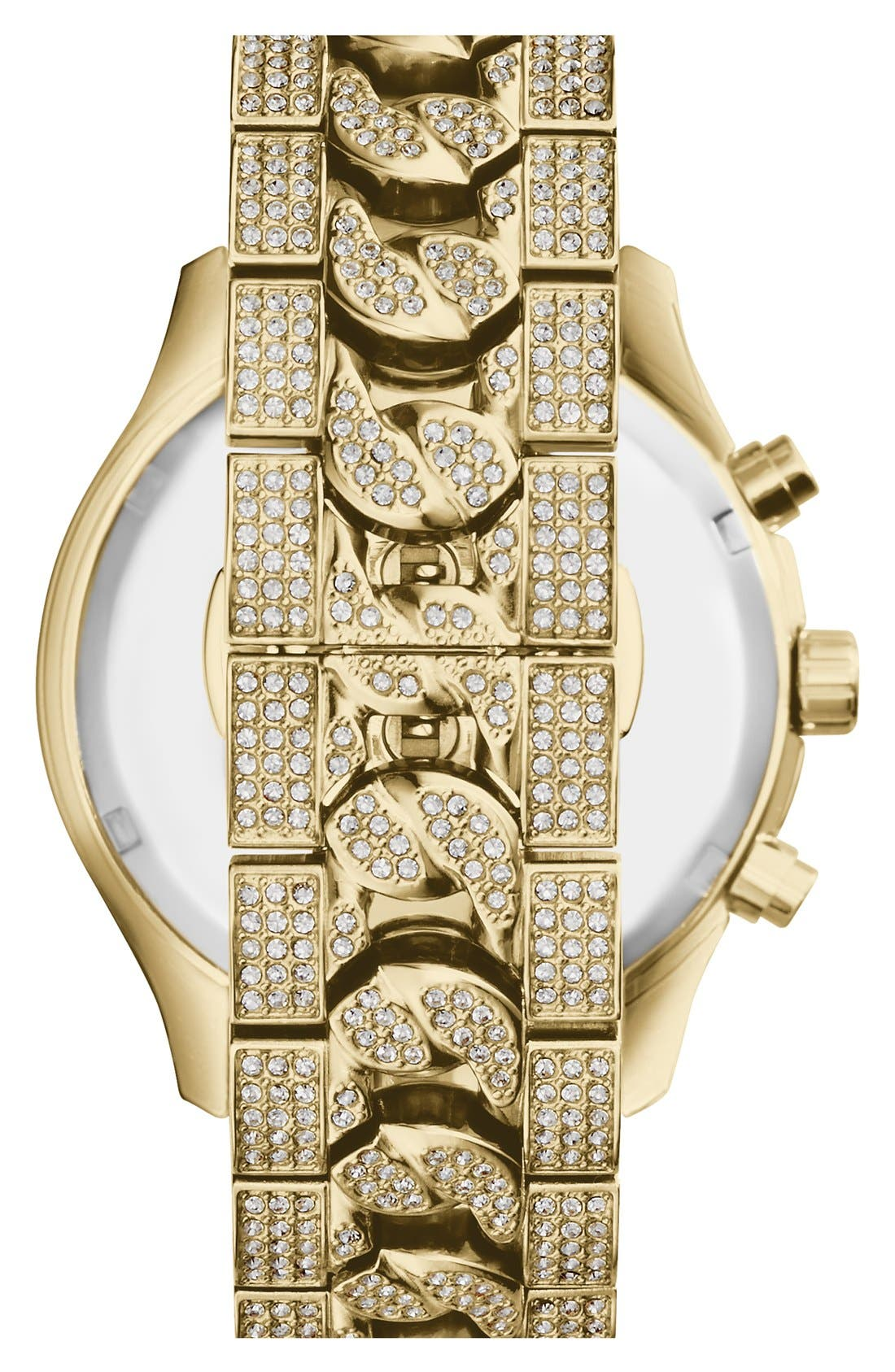 Alternate Image 3  - Michael Kors 'Lindley' Pavé Chronograph Bracelet Watch, 48mm
