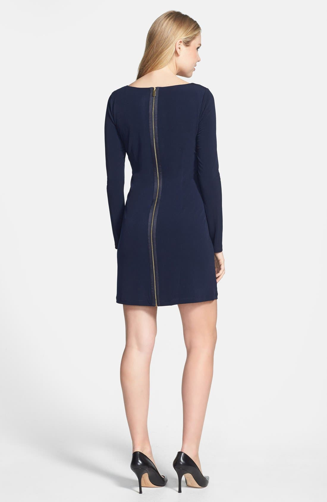 Alternate Image 3  - Vince Camuto Embellished Neckline Matte Jersey Dress