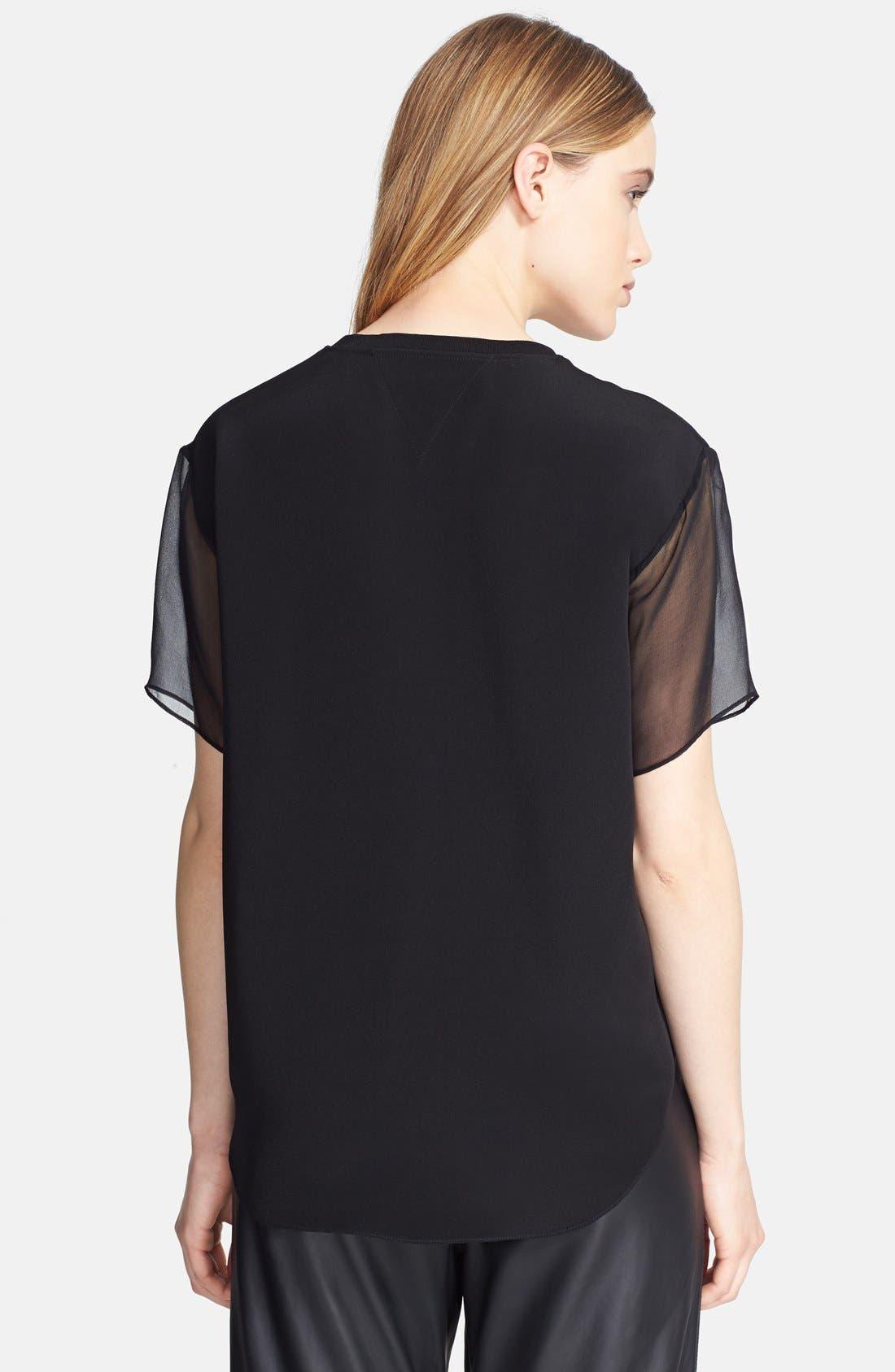 Alternate Image 2  - Theyskens' Theory 'Baim' Layered Silk Top