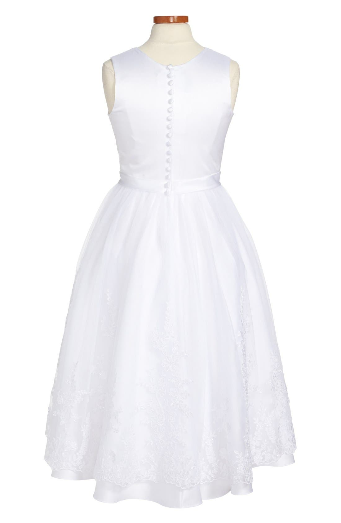 Alternate Image 2  - Joan Calabrese for Mon Cheri First Communion Dress (Big Girls)