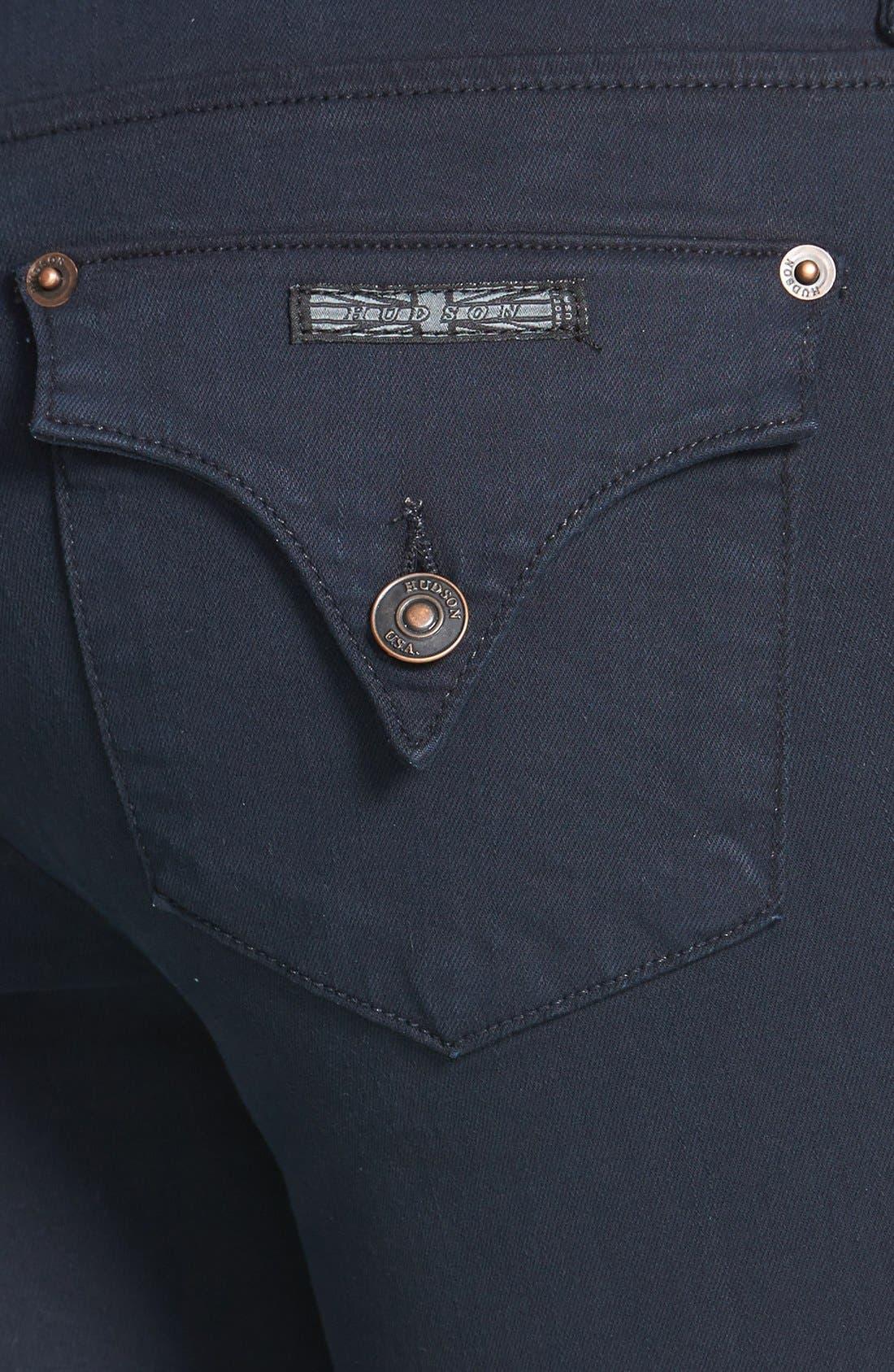 Alternate Image 3  - Hudson Jeans 'Collin' Skinny Stretch Jeans (Black Iris)